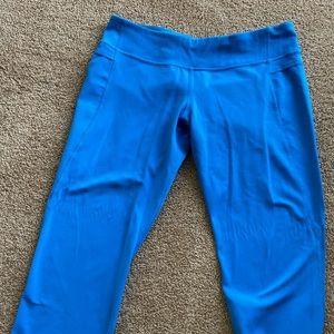 Lululemon Bright blue WU crops size 10 ❤️